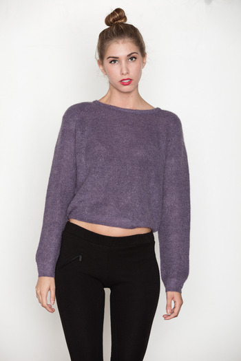 Minimarket - Purple Mohair Ylva Sweater