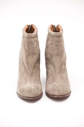 Jeffrey Campbell - Taupe Suede Rumble Zip Bootie
