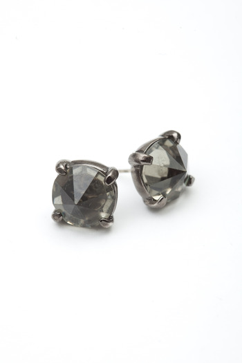 Made Her Think - Gunmetal/Black Diamond Spike Stud