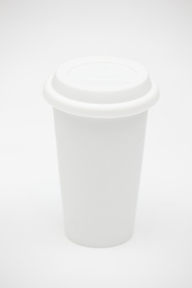 Kikkerland Ceramic Coffee Cup