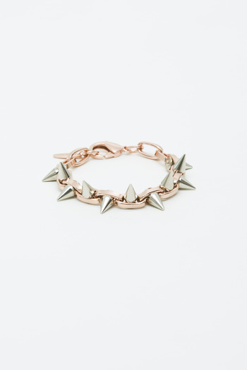 Joomi Lim - Rose Gold/Silver Double Row Spike Bracelet