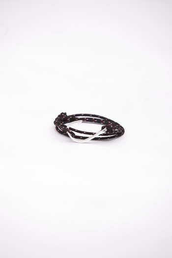 Miansai - Black/Red Rope Fish Hook Bracelet