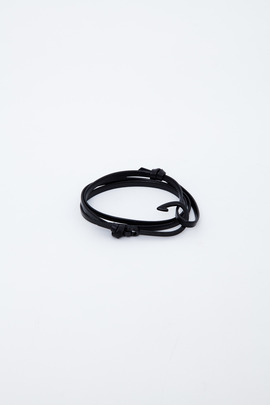 Miansai Black/Black Enamel Hooked Leather Bracelet