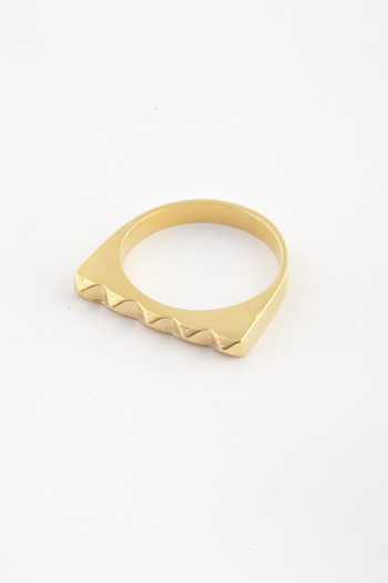 TOMTOM - Matte 18K Studder Stack Ring