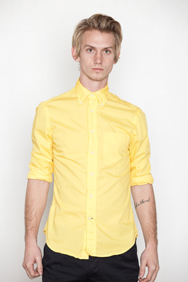 Gitman Bros. Vintage Bright Yellow Poplin