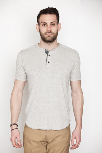 Wings + Horns - Heather Grey S/S Base Henley