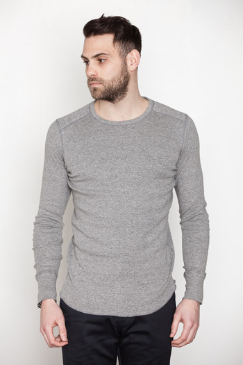 Wings + Horns - Charcoal L/S Base Crewneck