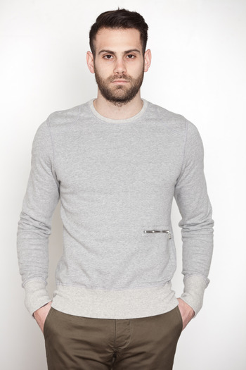 Wings + Horns - L/S Moto Crewneck Sweatshirt