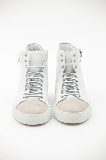 Wings + Horns - White/Pearl Hi-Top Sneaker