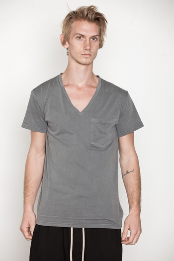 Cheap Monday Men's - Moon Grey Tim V-Neck Tee