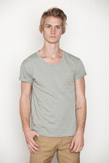 Cheap Monday Men's - Light Green Dan Pocket Tee