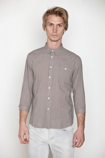 Robert Geller - 3/4 Sleeve Dress Shirt