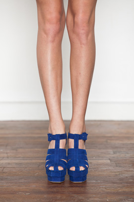 Jeffrey Campbell Blue Eva-B Platform Sandal