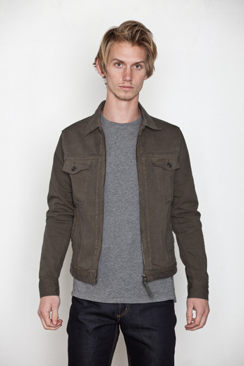 Robert Geller - Combo Sleeve Denim Jacket