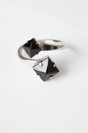 Joomi Lim - Rhodium Stud Open Ring