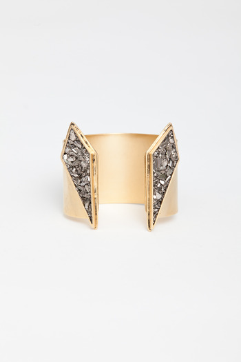 Lady Grey - Gold Split Apex Cuff