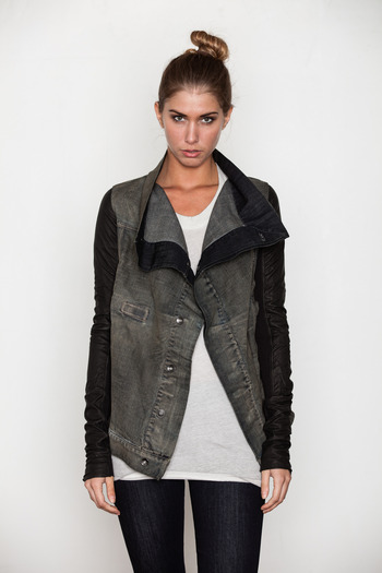 DRKSHDW Women's - Dark Dust Exploder Leather Sleeved Jacket