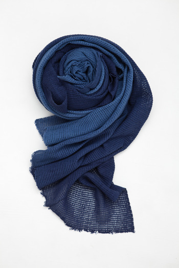 A Peace Treaty - Nuno Blue Mesh Scarf