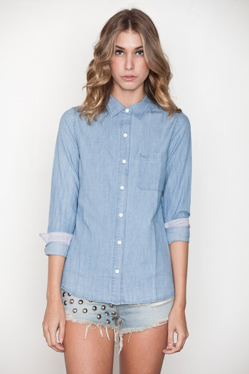 Pretty Penny Stock - Chambray Penny Shirt