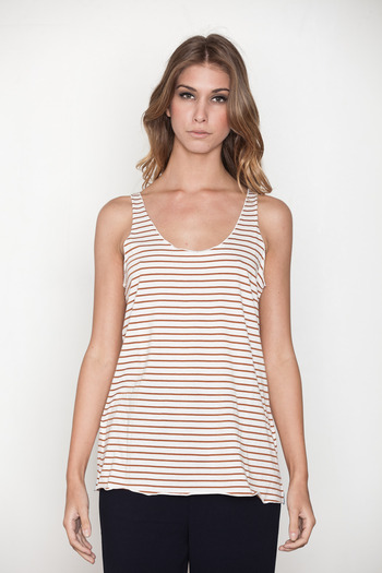 Pretty Penny Stock - Picasso Stripe Penny Tank