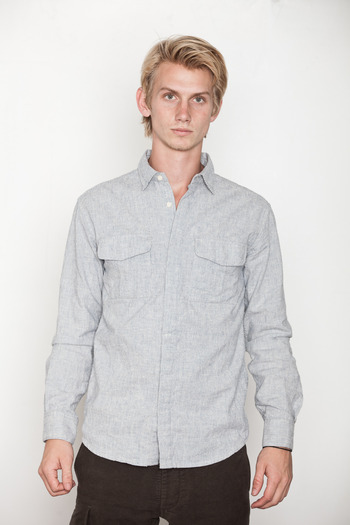 Blanc &amp; Noir - White Engineer Stripe Shirt