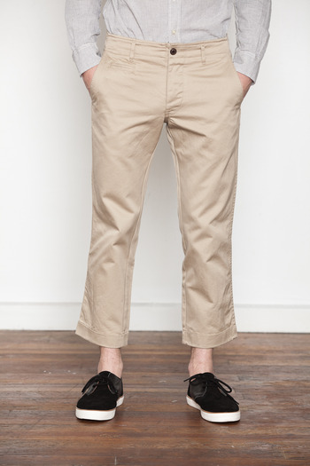 Wings + Horns - Tan Cropped West Point Chino