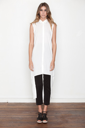 Ann-Sofie Back - Off White Double Length Shirt Dress