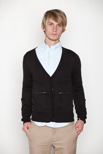 Wings + Horns - Zip Pocket Cardigan