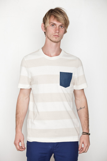 Penny Stock - Stripe Penny Pocket Tee