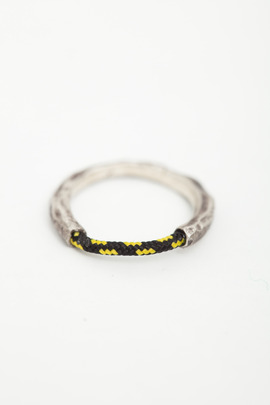 Miansai Black Half-Rope Ring