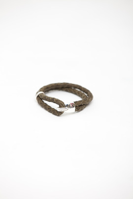 Miansai Olive Leather Beacon Bracelet