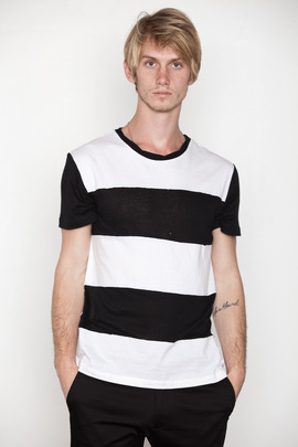 Kai-aakmann Men's Contrast Colorblocked Tee