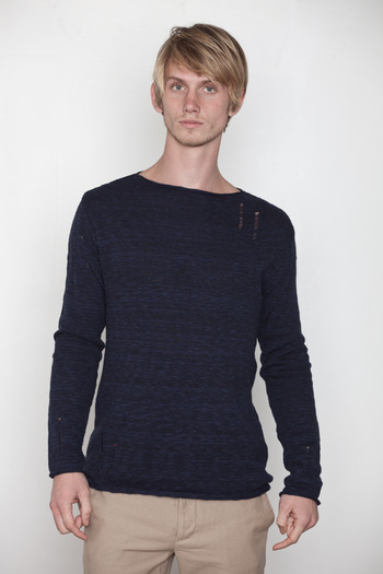 Kai-aakmann Men's - Slub Knit Sweater