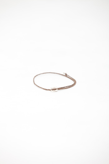 Robert Geller - Cocoa Thin Braid Bracelet