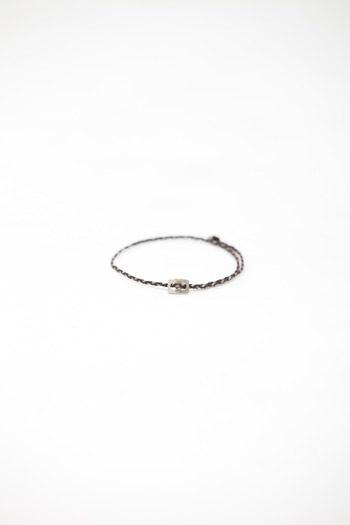 Robert Geller - Seal/Mocha Thin Braid Bracelet