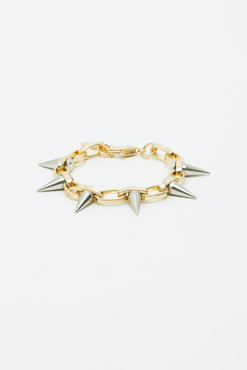 Joomi Lim - Gold/Silver Single Row Spike Bracelet