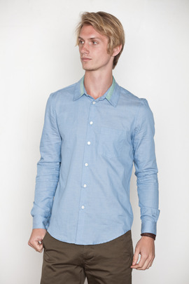Opening Ceremony Trimmed Collar Chambray Shirt