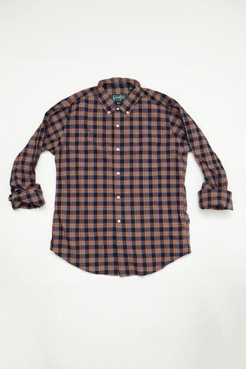 Gitman Brothers - Navy Plaid Poplin