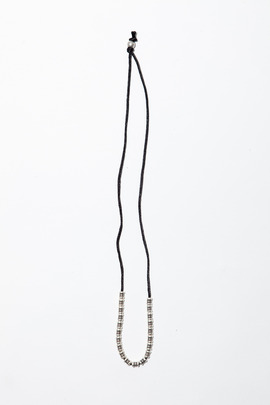 Vanessa Mooney Black Firefly Groove Tube Necklace