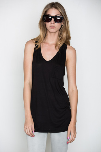 T by Alexander Wang Women's - Black Classic Tank w/ Pocket