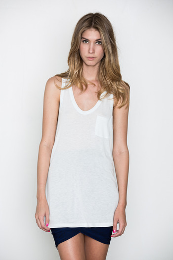 T by Alexander Wang Women's - Ice Classic Tank w/ Pocket