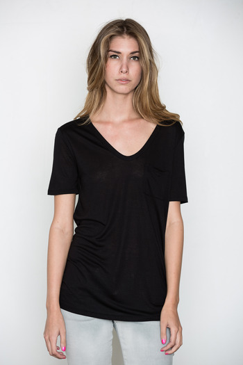 T by Alexander Wang Women's - Black Classic Tee w/ Pocket