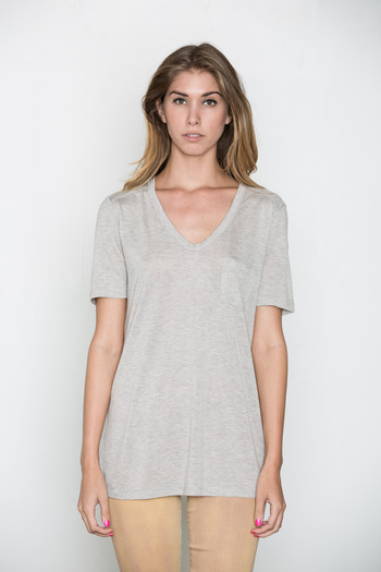 T by Alexander Wang Women's - Light Heather Classic Tee w/ Pocket