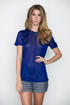 T-by-alexander-wang-womens-indigo-sheer-rayon-tee