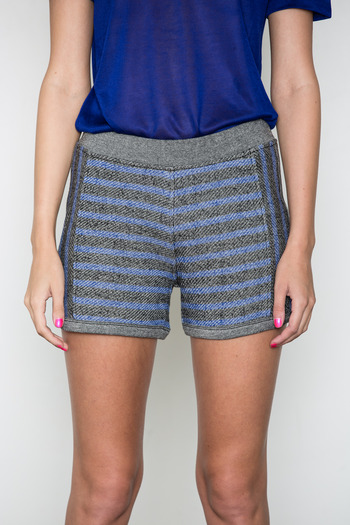 T by Alexander Wang Women's - Black/Indigo French Terry Shorts