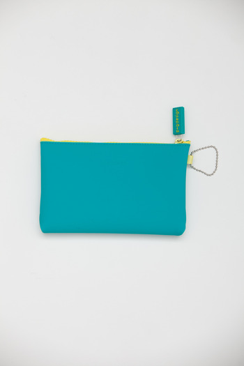 Ikuyo Ejiri - Turquoise Nuu Zip Pouch