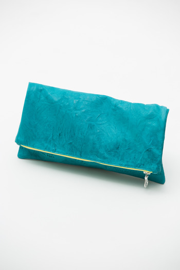 Cast of Vices - Teal Recycle Clutch