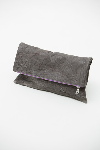 Cast of Vices - Grey Recycle Clutch