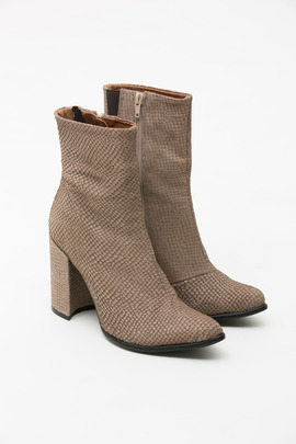 Jeffrey Campbell Taupe Snake Perfection Boot
