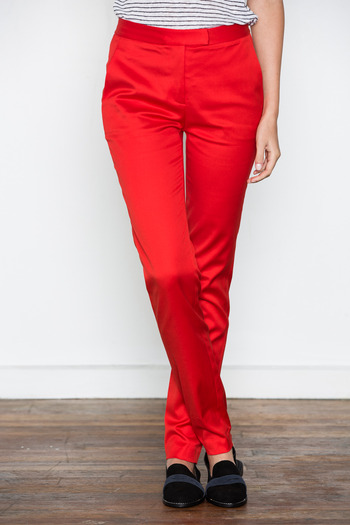 T by Alexander Wang Women's - Cayenne Cropped Twill Trousers